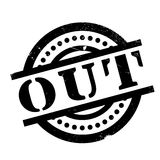 Out rubber stamp Stock Photos