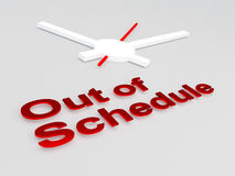 Out of Schedule concept Royalty Free Stock Images