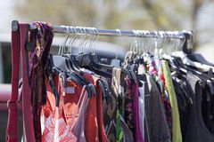 Out of season clothes on sale Royalty Free Stock Image