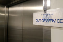 Out of service elevator lift Stock Photo