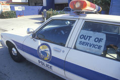 Out of service police car Royalty Free Stock Image