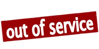Out of service Royalty Free Stock Photo