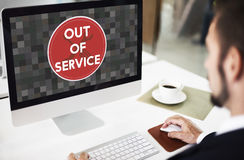 Out Of Service Sign Graphic Concept Stock Photo
