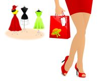 Out for shopping royalty free stock photography