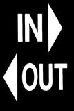 In or Out Sign Royalty Free Stock Photography