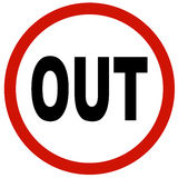 OUT sign Royalty Free Stock Image