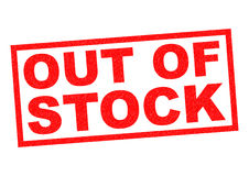 OUT OF STOCK Royalty Free Stock Image