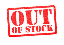 OUT OF STOCK Rubber Stamp Royalty Free Stock Photo
