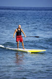 Out for a Surf. Tom Thayer out for a surf in the pacific royalty free stock images