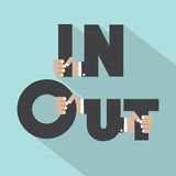 In And Out Symbol Design Royalty Free Stock Photos