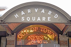 Out of Town news stand. Harvard Square, Out of Town Newstand, Cambridge, Boston, MA, New England, USA Stock Photography