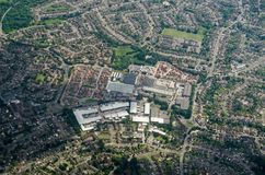 Out of town shopping centre, Reading, aerial view Royalty Free Stock Photo