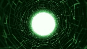 Out of the tunnel green background stock footage