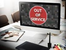 Out - - usługowy Szyldowy Graficzny pojęcie Fotografia Stock