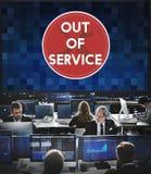Out - - usługowy Szyldowy Graficzny pojęcie Zdjęcia Stock
