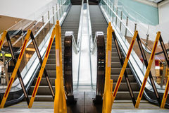 Out - - usługowy eskalator Zdjęcia Stock