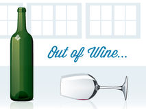 Out of Wine Royalty Free Stock Images