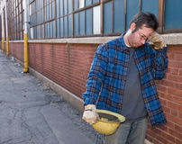 Out of work Worker Royalty Free Stock Photos