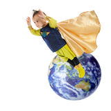 Out of This World Superhero Stock Photo