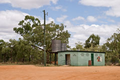 Outbaack Toilet. Toilet along the road towards Charters Towers Queensland Australia in the outback Royalty Free Stock Photo