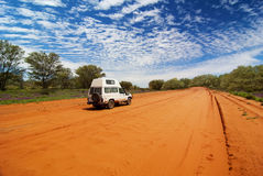 Outback. Sandy Outback Track in Australia Royalty Free Stock Photos