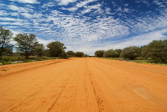 Outback. Australian Sandy Outback Track in the morning Royalty Free Stock Photos