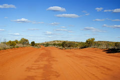 Outback. Sandy Outback Track on sunny day stock photos