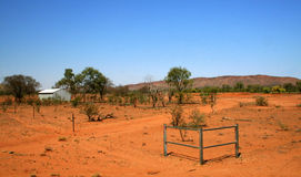 The Outback. In Australia showing how dry and deserted it can be Stock Image