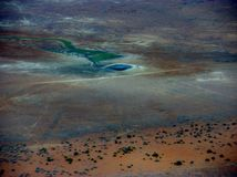 The outback. Arial photo of south Australian desert country Royalty Free Stock Photo