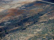 The outback. Arial photo of south Australian desert country Stock Image