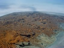 The outback. Arial photo of south Australian desert country Royalty Free Stock Images
