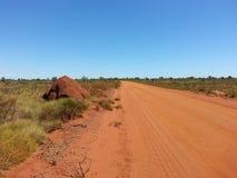 Outback Australia giant Termite ant hill mound Stock Image