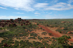 Outback Australia red rocks in bush Royalty Free Stock Photography