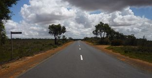 Outback bitumen road Stock Photos