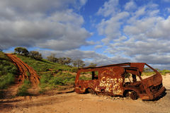 Outback Car Wreck Royalty Free Stock Images