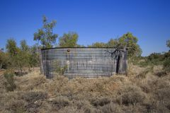 Outback water tank Stock Photo