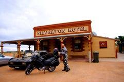 Outback corsa a Silverton Fotografie Stock