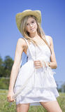 Outback Country Girl Stock Photo