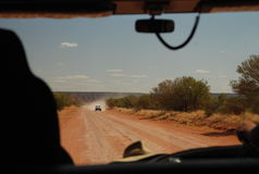Outback driving, Northern Territory, Australia Royalty Free Stock Photo