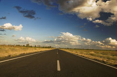 Outback Highway. Highway near Bourke, New South Wales, Australia stock photography