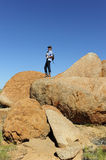 Outback Hiking in High Heels Royalty Free Stock Images