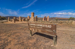 Outback Homestead 1. Outback South Australia the old Kanyaka Homestead sits abanded in the Flinders Ranges National Park Royalty Free Stock Image