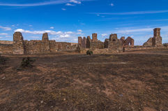 Outback Homestead 12. Outback South Australia the old Kanyaka Homestead sits abanded in the Flinders Ranges National Park royalty free stock images