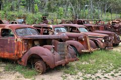 Outback. Junk Yard, near the Australia Outback town of Herberton Royalty Free Stock Images