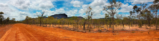 Outback landscape Australia panarama view Royalty Free Stock Photography