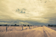 Outback Landscape with dramatic sky Royalty Free Stock Photo