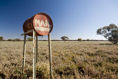 Outback mail box Stock Images