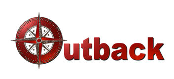 Outback (Metallic Sign) Stock Photo