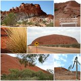 Outback Montage. An artwork montage of images from the Australian Outback for those that love the dry outdoors Royalty Free Stock Image
