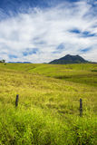 Outback mountain and field in the Scenic Rim, Queensland. Stock Images
